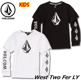 volcom ボルコム キッズ ロングTシャツ 3-7歳 West Two Fer LY ユース 長そで Y0341831 【返品種別OUTLET】