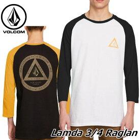 volcom ボルコム 七分丈tシャツ Lamda 3/4 Raglan メンズ A4341800 【返品種別OUTLET】