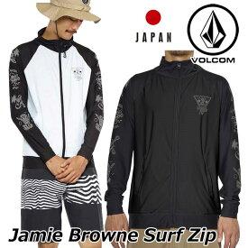 volcom ボルコム ラッシュガード Jamie Browne Surf Zip メンズ japan limited 長袖 N03118JC 【返品種別OUTLET】