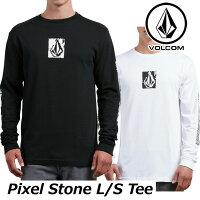 ボルコムtシャツメンズロンT【PixelStoneL/STee】長袖長そでvolcomロングTシャツメール便可
