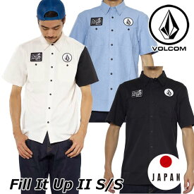 volcom ボルコム シャツ Fill It Up II S/S メンズ 半袖 japan limited A04118JA 【返品種別OUTLET】