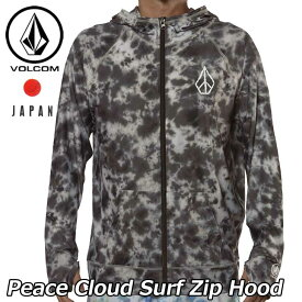 volcom ボルコム ラッシュガード パーカー Peace Cloud Surf Zip Hood メンズ japan limited 長袖 N03218JD 【返品種別OUTLET】