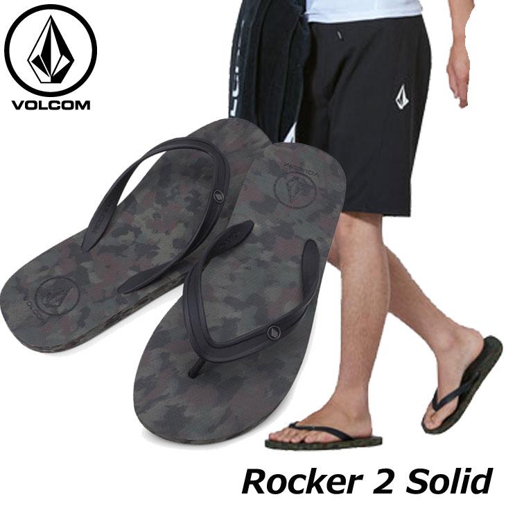 volcom ボルコム メンズ ビーチサンダル Rocker 2 Solid V0811885