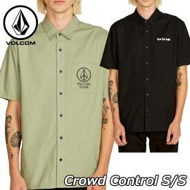 volcom ボルコム 半そでシャツ Crowd Control S/Sボタンシャツ メンズ 半袖 A0411906