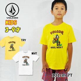 ボルコム キッズ Tシャツ volcom KIDS Wheel With It S/S Tee 半袖 3-7歳 幼児 Little Youth Y3521935【返品種別OUTLET】