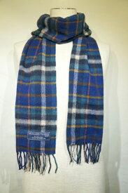 【HIGHLAND TWEEDS】 SCARF MUFFLER 25X190 -BLUE- S261A02 ハイランドツイーズ スカーフ マフラー ブルータータンチェック