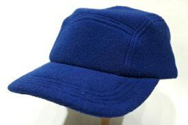 【NEW ENGLAND CAP】 FLEECE CAMP HIGH CROWN CAP -BLUE-  ニューイングランドキャップ フリース 5パネル キャップ ジェットキャップ ハイクラウン ブルー