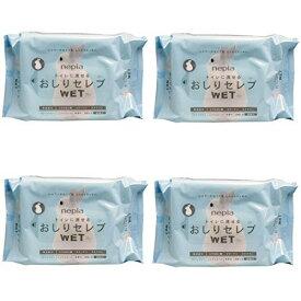 【まとめ買い】ネピア おしりセレブWET 詰替 60枚入 無香料 ×4個