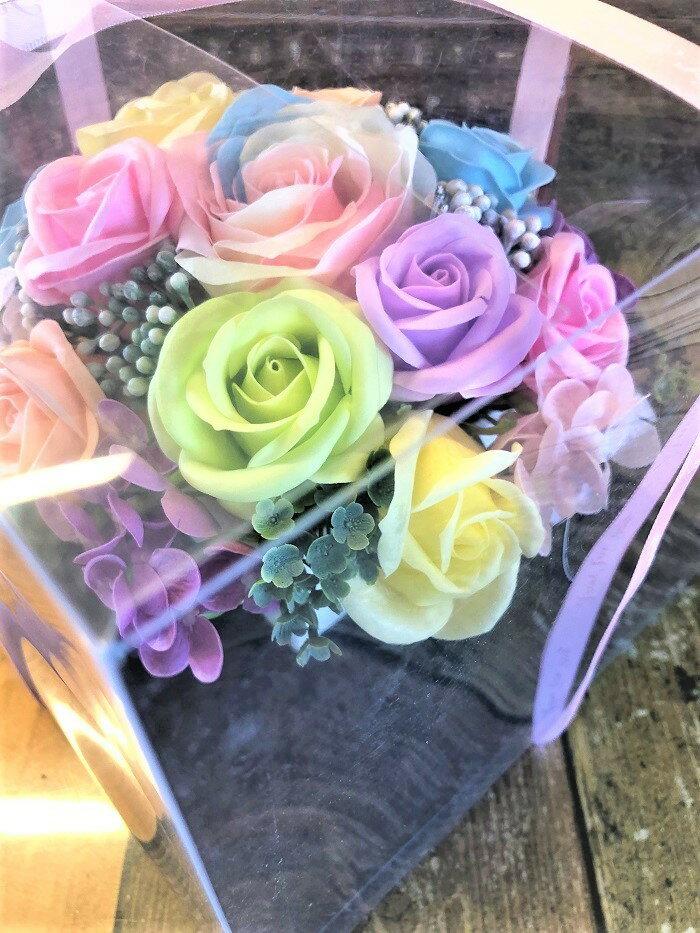 【あす楽】【新色】【ハイランクアレンジメント】 【送料無料】   石鹸 フラワーギフト シャボンフラワー 石鹸フラワー 枯れない花 造花 かわいい 人気 オススメ ソープフラワー