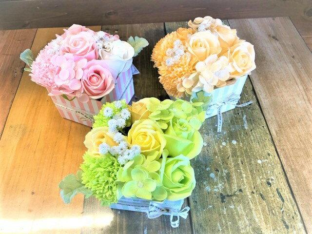 【あす楽】【クーポン】石鹸で出来たシャボンフラワー【フェリシー】石鹸 フラワーギフト シャボンフラワー 石鹸フラワー 枯れない花 造花 かわいい 人気 オススメ ソープフラワー