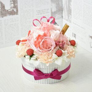 プリザーブドフラワー フラワーケーキ CHERRY POP SIZE:L 専用ボックス付 誕生日 結婚祝い 結婚記念日 プレゼント ギフト 贈り物 母の日 花 ブリザードフラワー