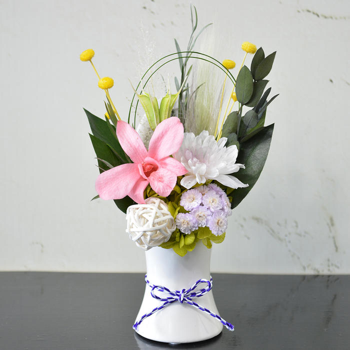 お供え 和風プリザーブドフラワー 胡桃(くるみ) 仏花 仏壇 法事 お悔やみ ペット 花 ブリザードフラワー 贈り物