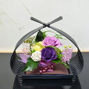 和風プリザーブドフラワー 華凛(かりん) フラワーギフト 花ギフト 誕生日 プレゼント 古希 お祝い 贈り物 バラ 還暦 …