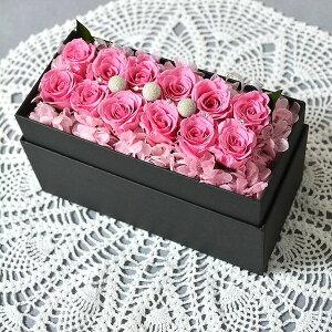 プリザーブドフラワー boxフラワー フラワーボックス ローズボックス/ROSES BOX ピンク ホワイトデー ボックスフラワー 母の日 誕生日 退職 boxフラワー プレゼント 女性 箱 アレンジメント クリ