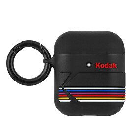 Case-Mate×Kodak Kodak Matte Black + Shiny Black Logo Case for AirPods エアポッドケース