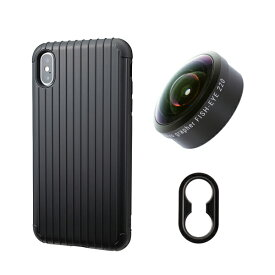 tokyo grapher Rib Case Package for iPhone XS Max(ブラック)FISH-EYE 220