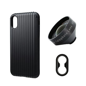 tokyo grapher Rib Case Package for iPhone XS/X(ブラック)Tele Lens