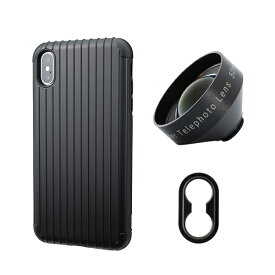 tokyo grapher Rib Case Package for iPhone XS Max(ブラック)Tele Lens
