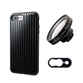 tokyo grapher Rib Case Package for iPhone 8 Plus/7 Plus(ブラック)ZD WIDE LENS PRO