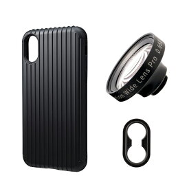 tokyo grapher Rib Case Package for iPhone XS/X(ブラック)ZD WIDE LENS PRO