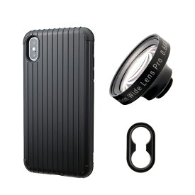 tokyo grapher Rib Case Package for iPhone XS Max(ブラック)ZD WIDE LENS PRO