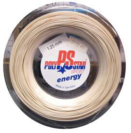 【超お買得!! 】 ENERGY エナジー 125 【POLY STAR硬式テニス ロールガット】