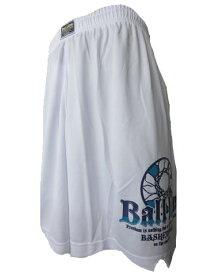 ※☆SALE!ネコポス対応☆ BASIC BAGGY SHORTS (プラクティスパンツ) BL9932-WHT 【BALL LINE】ボールライン (オンザコート) バスケットウェア
