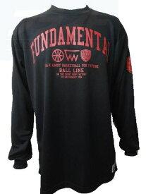 ※☆ネコポスなら送料無料!☆ LONGSLEEVE SHIRTS (長袖Tシャツ) BT6962-BLK 【BALL LINE】ボールライン (オンザコート) バスケットウェア