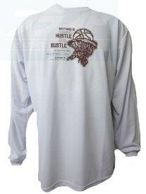 ※☆ネコポス対応☆ LONGSLEEVE SHIRTS (長袖Tシャツ) BT6964-WHT 【BALL LINE】ボールライン (オンザコート) バスケットウェア