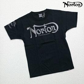 Norton(ノートン)杢調 ラメ 刺繍 ブラック 半袖 Tシャツ 62N1000