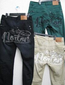Norton(ノートン)バック刺繍 ストレッチ デザインチノパンツ 33N1705