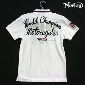 Norton(ノートン) クールマックス ENGLAND トリコロール ポロシャツ ホワイト 62N1909