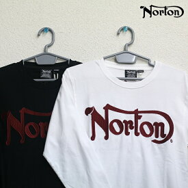 Norton(ノートン) レッド プリント ロンT(ホワイト、ブラック)63N1109
