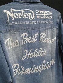 Norton(ノートン)ストレッチ ウエスタン 長袖デニム シャツ 173N1503-77,95
