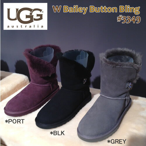 【S】【国内正規品】アグ ムートンブーツ 2014新作 レディースベイリー ボタン ブリング 3349 ショートUGG Bailey Button Bling〔SK〕