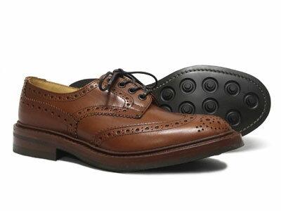 トリッカーズ バートン ウィングチップ カントリー ダイナイトソール Tricker's BOURTON M5633 <マロン・アンティーク>ブラウン<日本正規代理店規格モデル>短靴 ローカット〔FL〕【楽ギフ_包装】【送料無料】