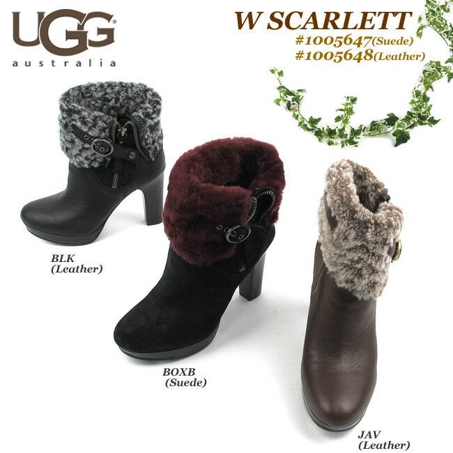 【S】アグ ブーツ レディースUGG SCARLETT スカーレット1005647(Suede)/1005648(Leather) 〔SK〕【コンビニ受取対応商品】