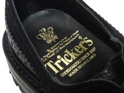 トリッカーズバートン別注ウィングチップカントリーTricker'sBOURTONコマンドソール<ブラックマルチカラー>★ブラックライニングM5633短靴ローカット〔FL〕【楽ギフ_包装】