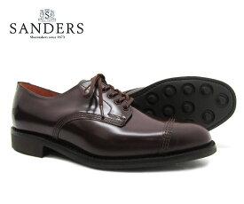 SANDERS サンダース Military Derby Shoe ミリタリー ダービー シュー 1128R バーガンディー メンズ ストレートチップ キャップトゥ ビジネスシューズ〔FL〕【あす楽】【楽ギフ_包装】