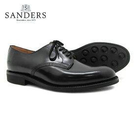 SANDERS サンダース Offi Shoe オフィサー シュー 1384B ブラック メンズ ビジネス シューズ BLACK 〔FL〕【あす楽】【楽ギフ_包装】