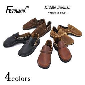 Fernand Leather フェルナンドレザー Middle English ミドルイングリッシュ アメリカ製 クロムエクセルレザー メンズ 〔FL〕【楽ギフ_包装】
