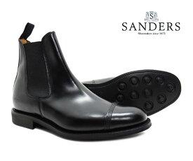 サンダース SANDERS 1140B メンズ ミリタリー チェルシー ブーツ Military Chelsea Boot ブラック ストレートチップ キャップトゥ サイドゴア〔FL〕【あす楽】【楽ギフ_包装】