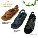 【shoes15】【期間限定!15%OFFクーポン発行中】アイランドスリッパ ISLAND SLIPPERメンズ クロスサンダル スェード…
