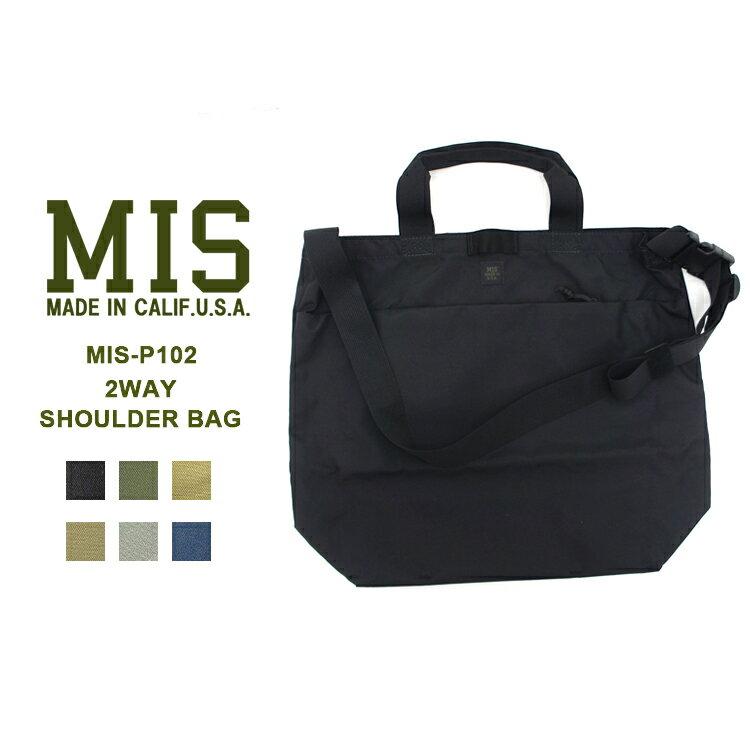 MIS(エムアイエス) MIS-P102 2WAY SHOULDER BAGトート ショルダー ユニセックス 大容量【あす楽】