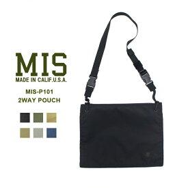 MIS(エムアイエス) MIS-101 2WAY POUCHポーチ ショルダーバッグ サコッシュ ユニセックス【あす楽】