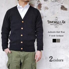 Inver Allan インバーアラン Authentic Knit Wear オーセンティックニットウェア Vネックカーディガン メンズ レディース 〔FL〕【楽ギフ_包装】