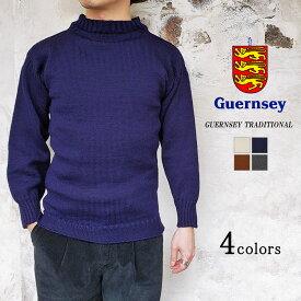 Guernsey WOOLENS ガンジーウーレンズ TRADITIONAL GUERNSEY SWEATER トラディショナルガンジーセーター メンズ レディース 〔FL〕