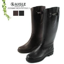 エーグル エーグランティーヌ2 レインブーツ ラバーブーツ ロングブーツ レディース 2021春夏 AIGLE AIGLENTINE2 Rain Rubber Long boots LADIES 21SS23.5cm/24cm/24.5cm ブラウン/ブラック ZZF8880
