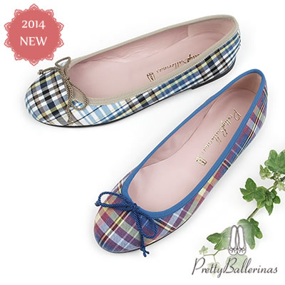 【S】Pretty Ballerinas プリティバレリーナMarilyn バレエシューズ パンプス チェック38189/9000〔SK〕【コンビニ受取対応商品】
