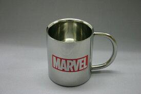 マーベル MARVEL ロゴステンレス二重マグカップ